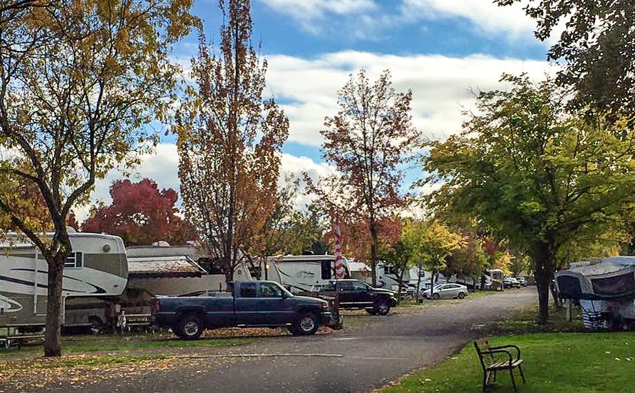 fall street scene